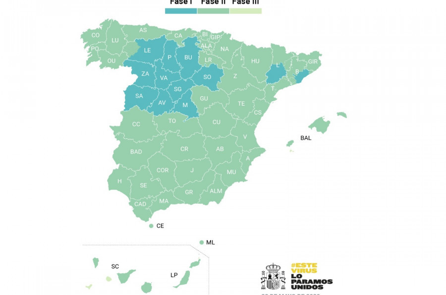 mapa desescalada 1 de junio